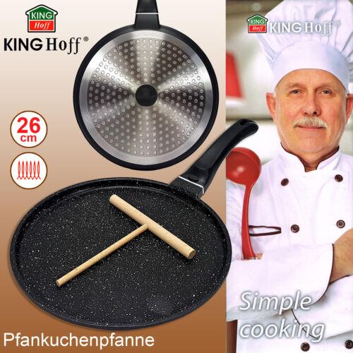 Pfannekuchenpfanne Ø 26 cm Induktion Pfanne Crepepfanne mit Verteiler Granit