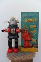 Rare Mechanized Robby Robot TN Nomura Toys Made Japan 1950s Battery Operated Box