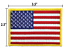 AMERICAN-FLAG-EMBROIDERED-PATCH-iron-on-GOLD-BORDER-USA-US-United-States thumbnail 2