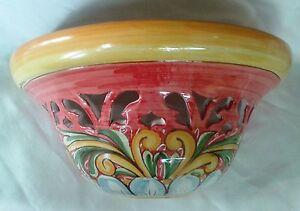 Gerla applique luce traforata decorata a mano in ceramica di