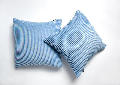"A Pair Of 18""x18"" Chenille Stripe Cushion Covers"