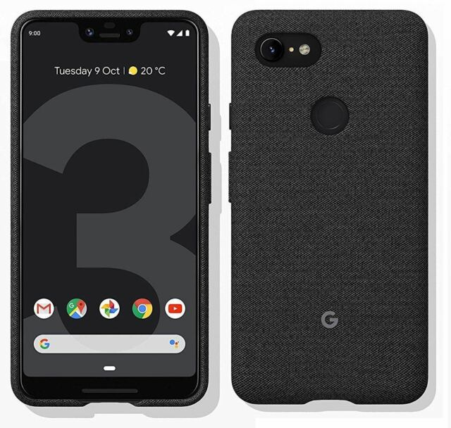 on sale ad80c b7737 Official Genuine Google Pixel 3 XL Carbon Black Fabric Case Cover GA00494