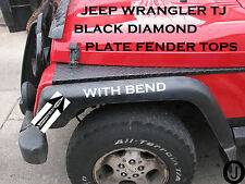 JEEP TJ black DIAMOND PLATE FULL TOP FENDER COVERS WITH BEND Rubber Coated