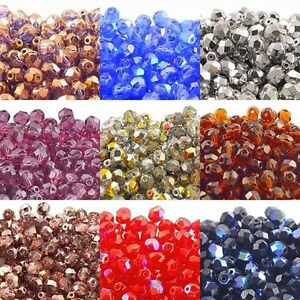 6mm-Czech-Glass-Faceted-Round-Fire-Polished-Beads-Over-80-Colours-x-50-beads