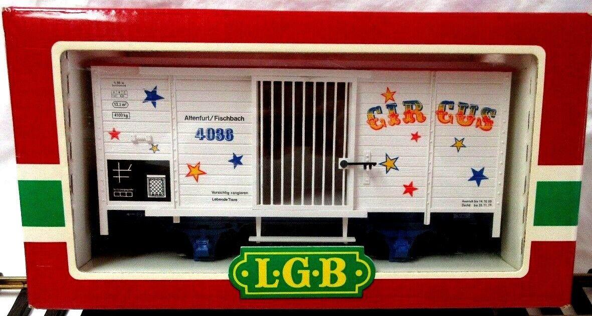 LGB 4036 CIRCUS WAGON W  RAMP NUOVO