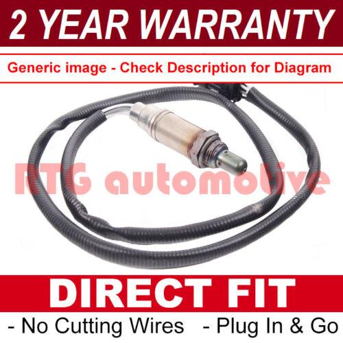 FOR PEUGEOT 106 MK2 206 1998 REAR 4 WIRE DIRECT FIT LAMBDA OXYGEN SENSOR 08209