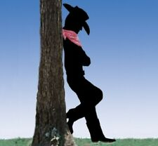 **NEW** Lawn Art Yard Shadow Silhouette - Leaning Western Cowboy