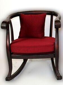 Fantastic Details About Empire Revival Dark Mahogany Tub Rocking Chair Evergreenethics Interior Chair Design Evergreenethicsorg