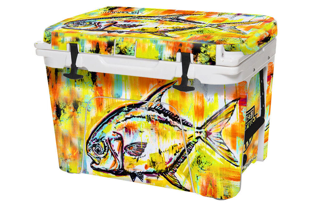 USATuff Custom Cooler Decal Wrap fits fits Wrap YETI Tundra 45qt FULL Danforth Permit 0f891a