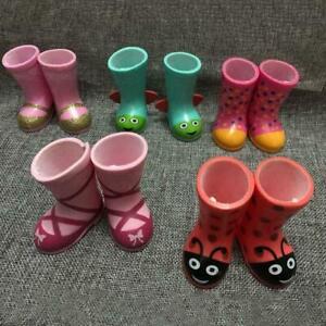 Regen-Stiefel-fuer-18Zoll-Puppe-Maedchen-gelbe-Farbe-Puppe-Schuhe-Kleiderr-Sa-K8B3