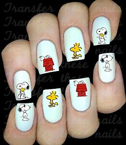 30 Snoopy Woodstock Nail Art Decals Stickers Water Transfers Party