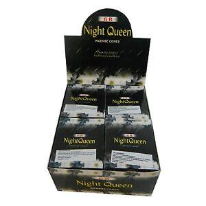120 conos de incienso Night Queen Reina de la noche 12 cajas aroma con quemador