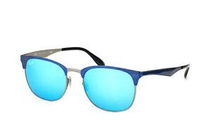 Gafas-de-Sol-Ray-Ban-RB3538-189-55-Clubmaster-metal-blue-nuevas-Originales