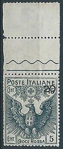1915-18-REGNO-PRO-CROCE-ROSSA-20-SU-15-5-CENT-DIFETTOSO-MNH-T253-4