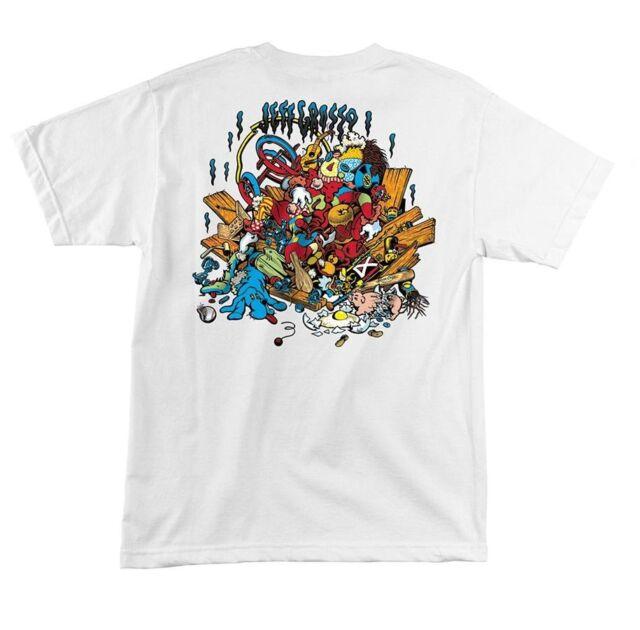 Santa Cruz Jeff Grosso TOYBOX LIMITED EDITION Skateboard Shirt WHITE LARGE