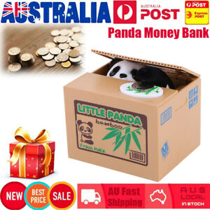 Cute-Stealing-Coin-Money-Box-LITTLE-PANDA-Piggy-Bank-Storage-Saving-Case-Gift-AU