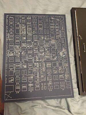 Downtown Cincinnati City Street Map Professional Art print 12 By 16 on