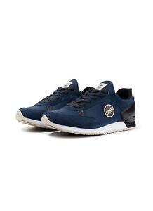 Scarpe-Uomo-Colmar-Travis-Drill-Sneakers-Pelle-Nylon-Blu-Bianche-Grigie-Nuove