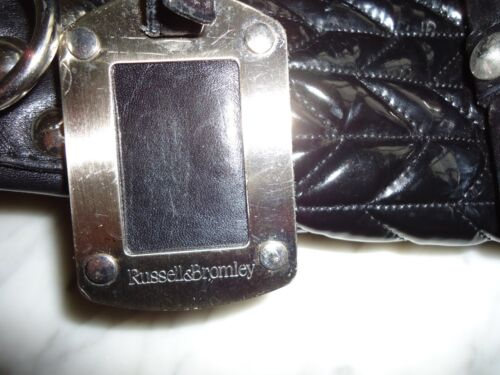in pelle Russell grande Borsa nera Bromley brevettata 5Sp1qw