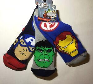 3-Pairs-Boys-Slipper-Socks-with-Avengers-detail
