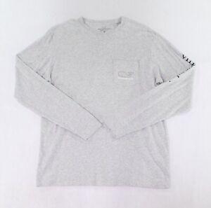 Vineyard-Vines-Mens-T-Shirts-Gray-Size-Medium-M-Logo-Print-Graphic-Tee-48-703