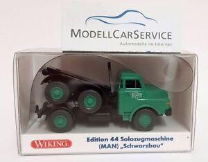 Wiking-Sondermodell-1-87-H0-MAN-Kurzhauber-mit-Dolly-034-Schwarz-Hoch-amp-Tiefbau-034