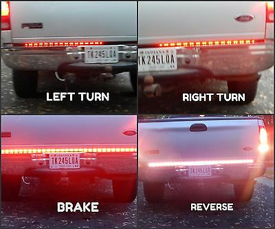 "60"" 5050 Led Brake/Reverse/TurnSignal LED Tailgate TailLight Bar Chevy Silverado"