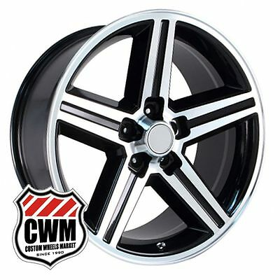 "18"" 18x8"" Iroc Z Black Machined Replica Wheels Rims for Chevy Monte Carlo 82-88"