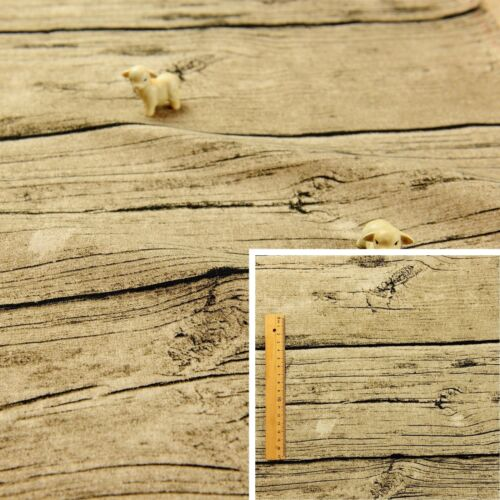 BEIGE Fat Quarter//MeterLinen Blend Fabric Fat Quarter Novelty Wood 145cm wide