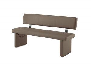 Küchenzeile 160 cm  Sitzbank BEANER XL 160 cm +Rückenlehne schlamm grau Bank Esszimmer ...