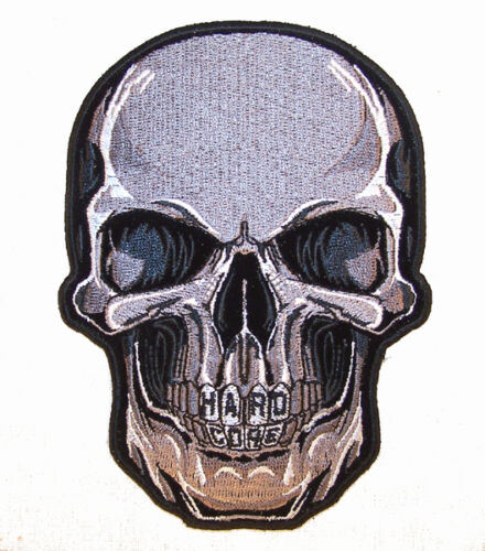 HARD CORE SKULL EMBRODIERED PATCH P6020 new jacket novelty bikers patches ironon