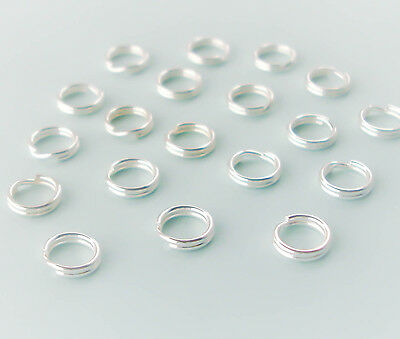 Sterling Silver Split Jump Rings 6mm Double Looped, QTY 10 20 or 50, USA Seller