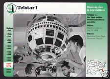 TELSTAR I First Satellite TV & Phone 1962 Photo GROLIER STORY OF AMERICA CARD