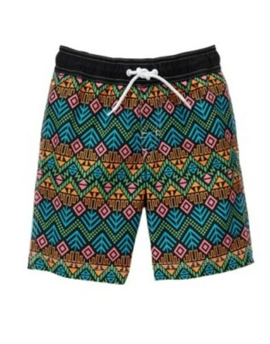 GYMBOREE SWIM SHOP GEOMETRIC PRINTED SWIM TRUNKS 7 8 NWT