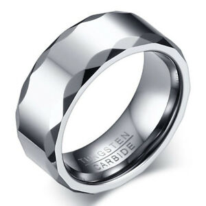 Men-Tungsten-Carbide-Stainless-Steel-Wedding-Engagement-Silver-Band-Ring-Sz-7-12