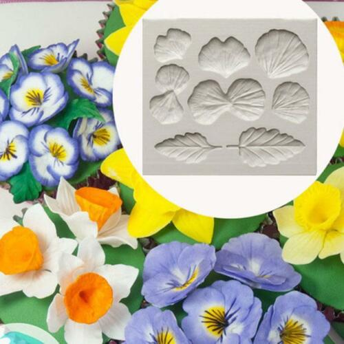 Silicone Mould Flower Flexible Molds Fondant Floral Petal Leaf Veiner MG