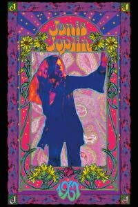 JANIS-JOPLIN-1967-24x36-MUSIC-POSTER-PURPLE-60-039-S-NEW-ROLLED