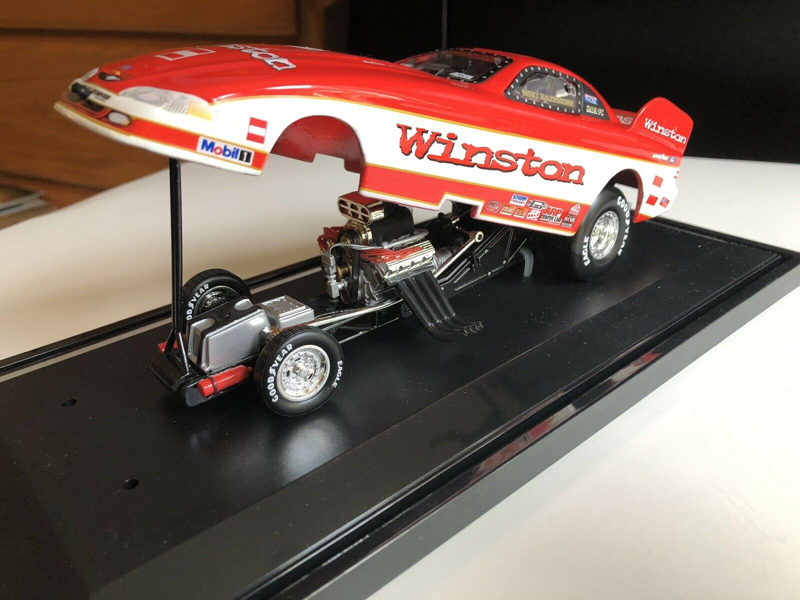 Whit Bazemore 1 24 Winston 1997 Mustang Funny Car 1 Of 3500 RCCA Club