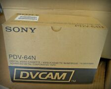 SONY DV DVCAM TAPE PDV-64N Large Digital Video Cassette 1 box, 10 tapes