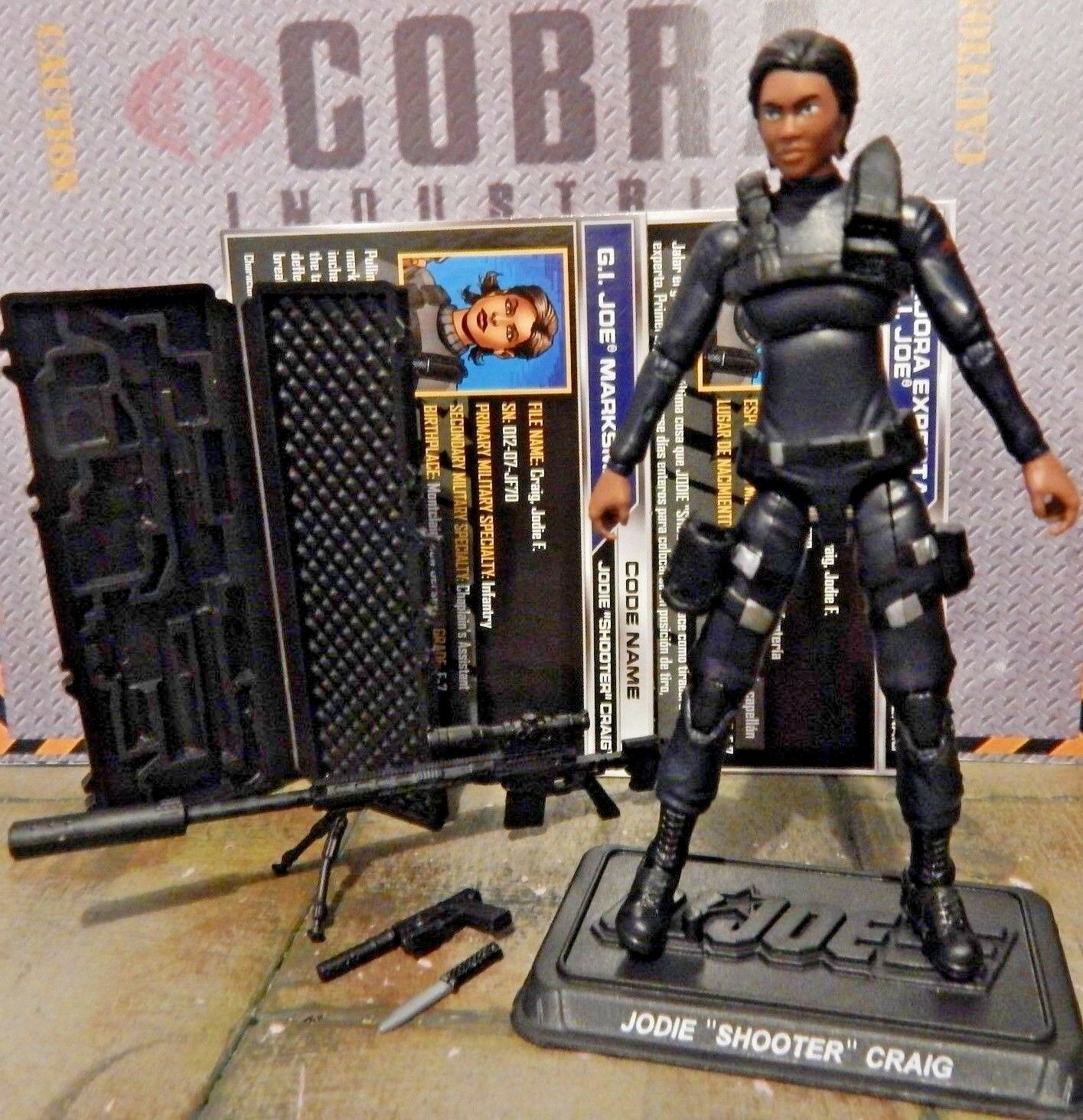 GI JOE  2016 JODIE SHOOTER CRAIG  100% COMPLETE & CARDS with NAME STAND