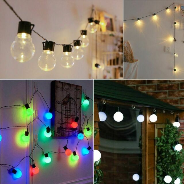 Led Multi Color Tinsel Globe Lights