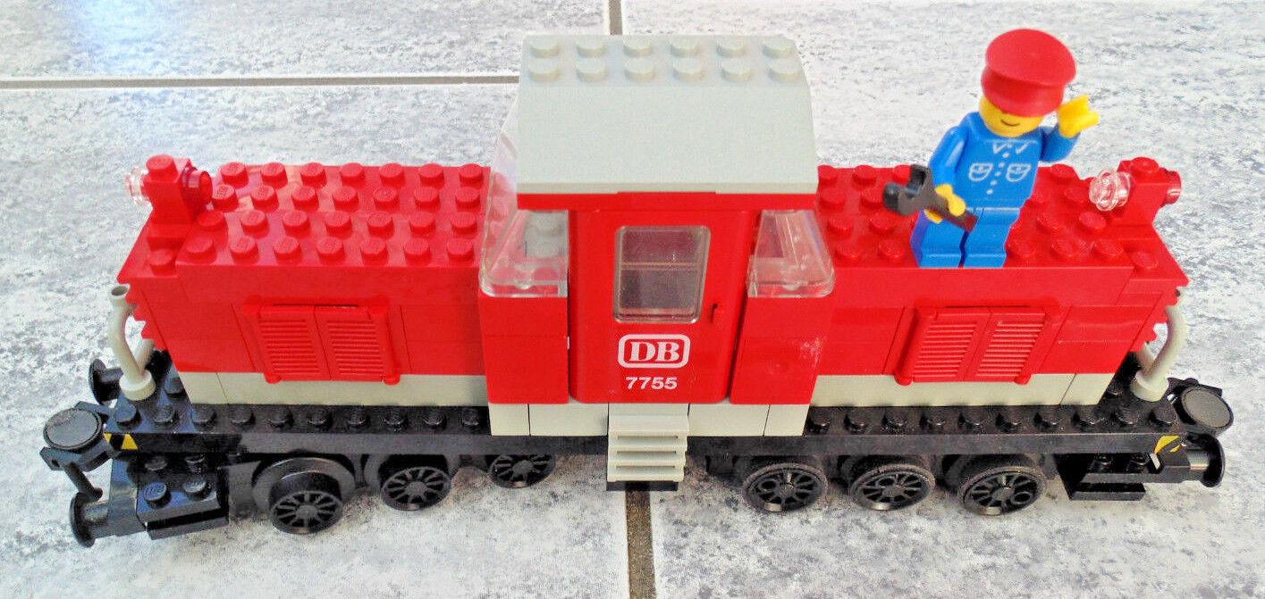 LEGO Ferrovia 12v 12 Volt Diesel, Rossi Lok, locomotiva (7755) con ba