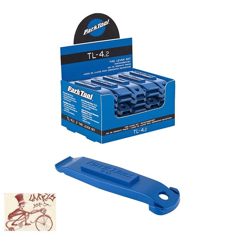 PARK TOOL TL-4.2 blueE NYLON BICYCLE TIRE LEVERS--BOX OF 25 SETS