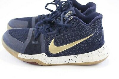 blue and gold nike basketball shoes