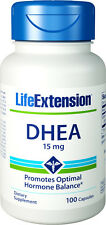 Life Extension DHEA Promotes Optimal Hormone Balance, 15 Mg 100 Capsules