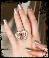 Classic Hardware Hannah Aitchison Tattoo Keyhole Art Stainless Steel Heart Ring