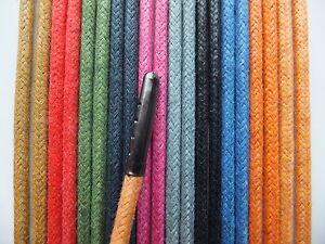 5mm Rond Coton Ciré-metal Tipped Lacets-toute Longueur-boot Lacet-afficher Le Titre D'origine Bzhmcm5u-10105319-790711377
