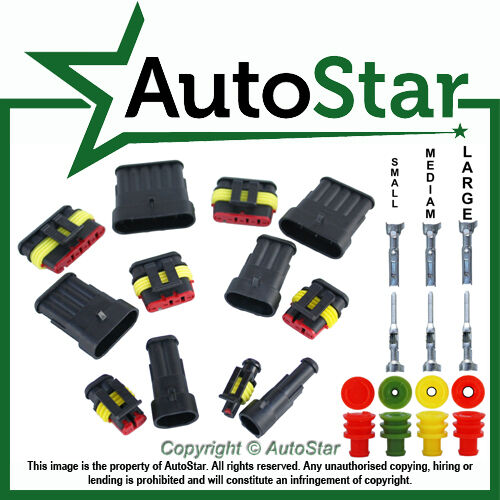 1 Way 12V 24V DC Sealed Electrical Connector KIT Waterproof // Weather Proof