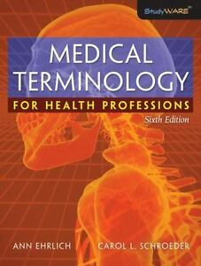 Medical terminology for health professions by ann ehrlich and stock photo fandeluxe Image collections