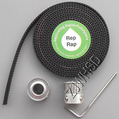 RepRap 2x GT2 20T 8mm Bore Pulleys & 2M Timing Belt Set for 3D printer Ultimaker